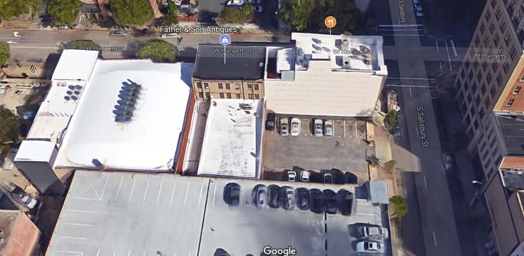 Google Maps view of 107 West Hargett