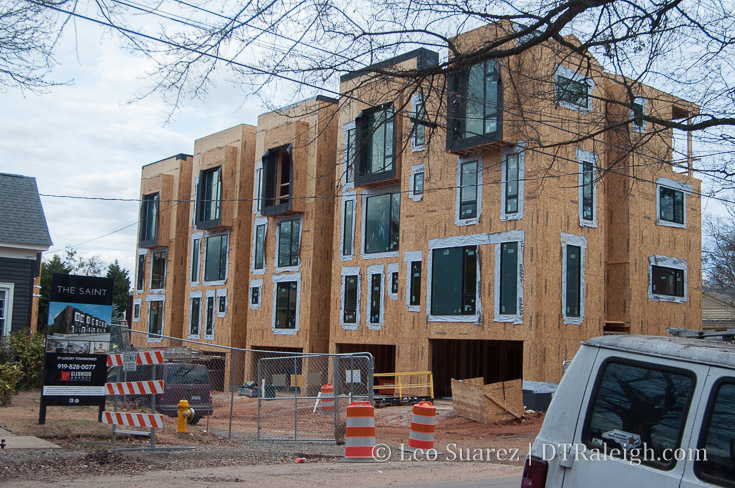 The Saint townhomes under construction. January 2018.