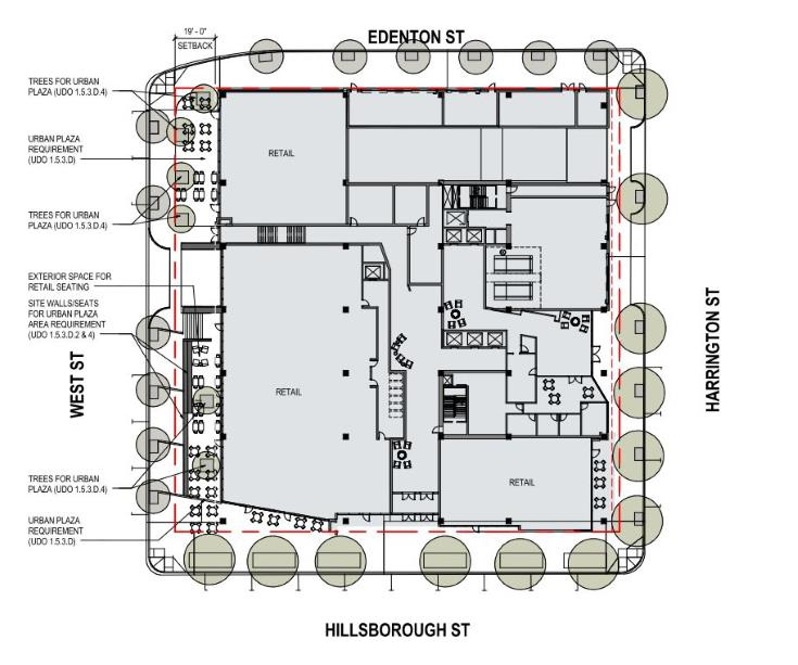 floorplan of 400 Hillsborough from AAD-009-17
