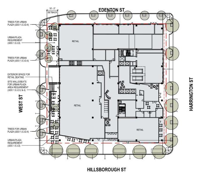 floorplan of 400 Hillsborough from AAD-009-17