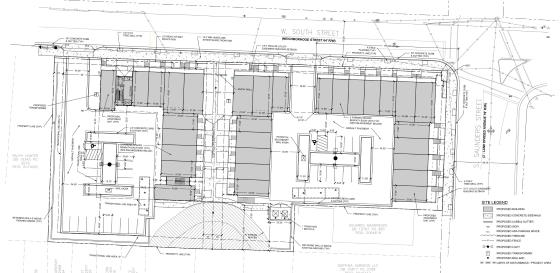 Site Plan Map of 611 West South