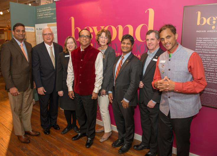 John Jivatode, Morrisville Town Councilwoman Vicki Scroggins-Johnson, Swadesh Chatterjee, Secretary of State Elaine Marshall, Sen. Jay Chaudhuri, Morrisville Mayor Mark Stohlman, and Mayor Pro Tem Steve Rao.