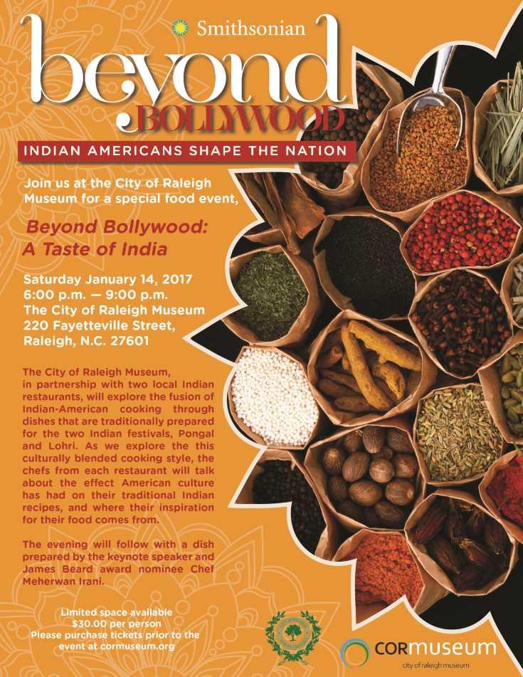 Taste of India, COR Museum January 14, 2017