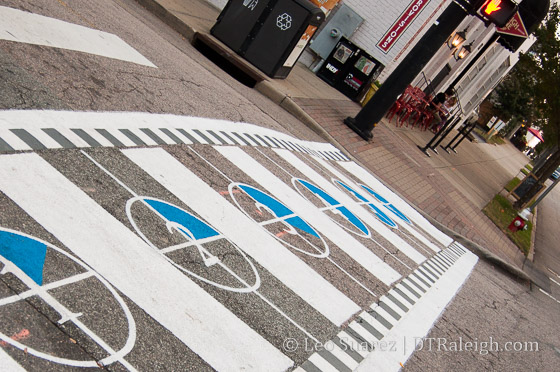 Crosswalk at Glenwood and Jones Street