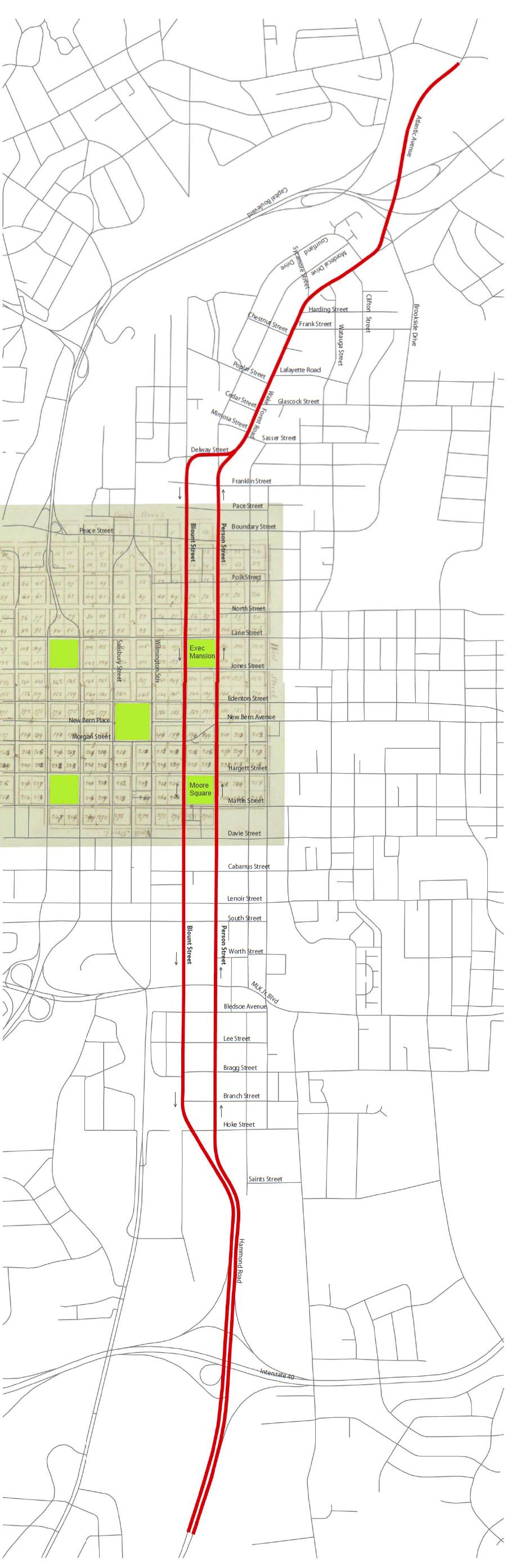 Map of the Blount/Person Street Corridor Study