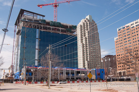 Charter Square construction in February 2015