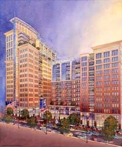Charter Square site rendering in 2006