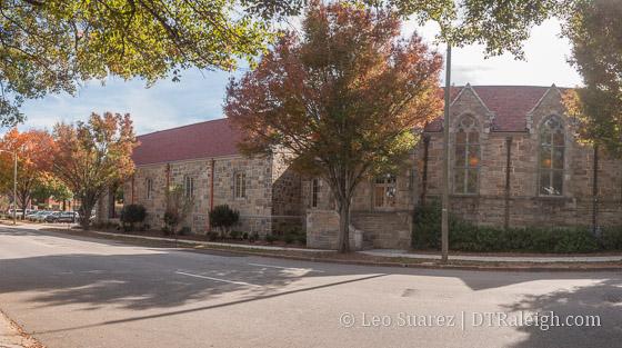 Christ Church along Edenton Street.