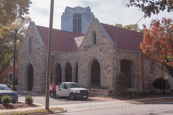Christ Church along Edenton Street.