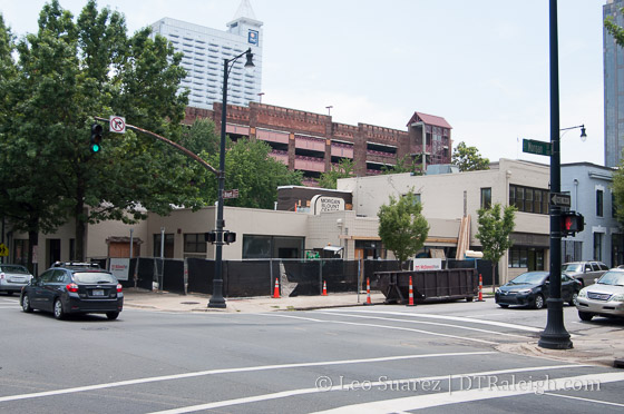 Corner of Blount and Morgan Streets, August 2015