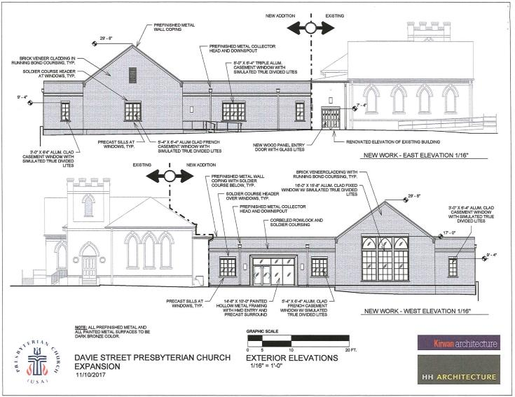 Rendering the new addition for Davie Street Presbyterian.