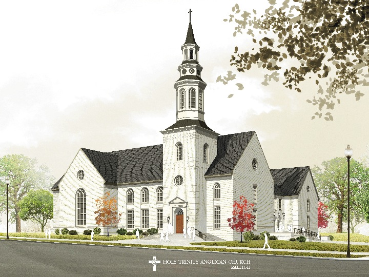 Rendering of the Holy Trinity Church on Peace Street.
