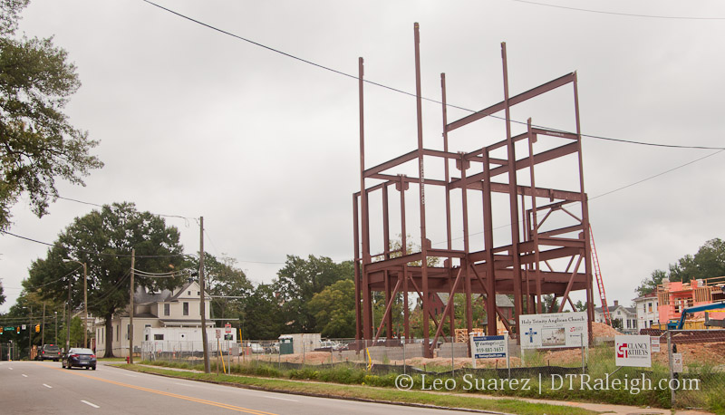 Holy Trinity Anglican Church construction on Peace Street