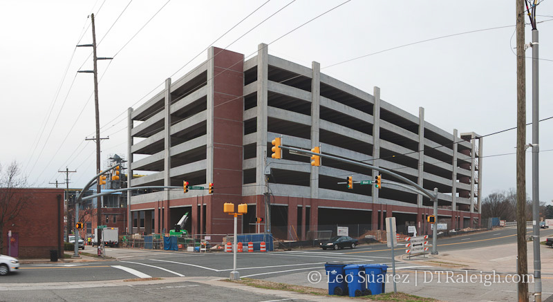 Citrix parking deck under construction