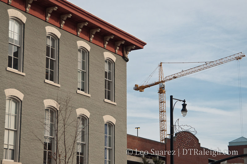 Crane in downtown Raleigh