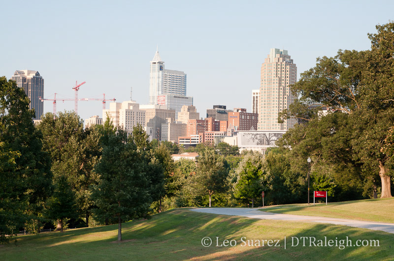 View of Downtown Raleigh from the Dorothea Dix Campus