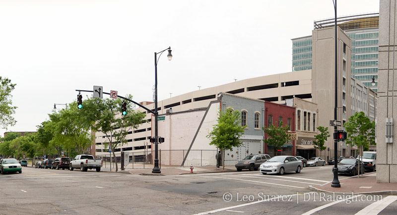 Corner of Wilmington and Martin Street in April 2013.