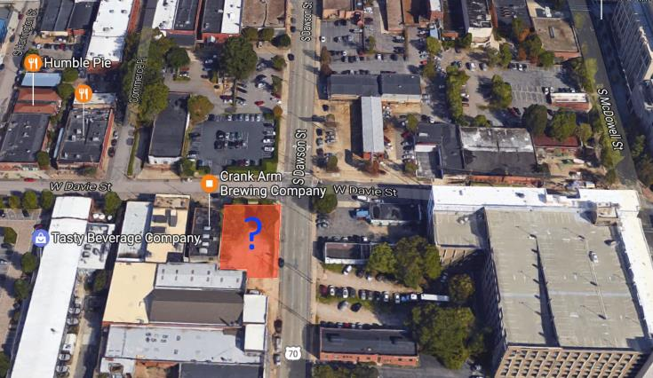 Location of rezoning request