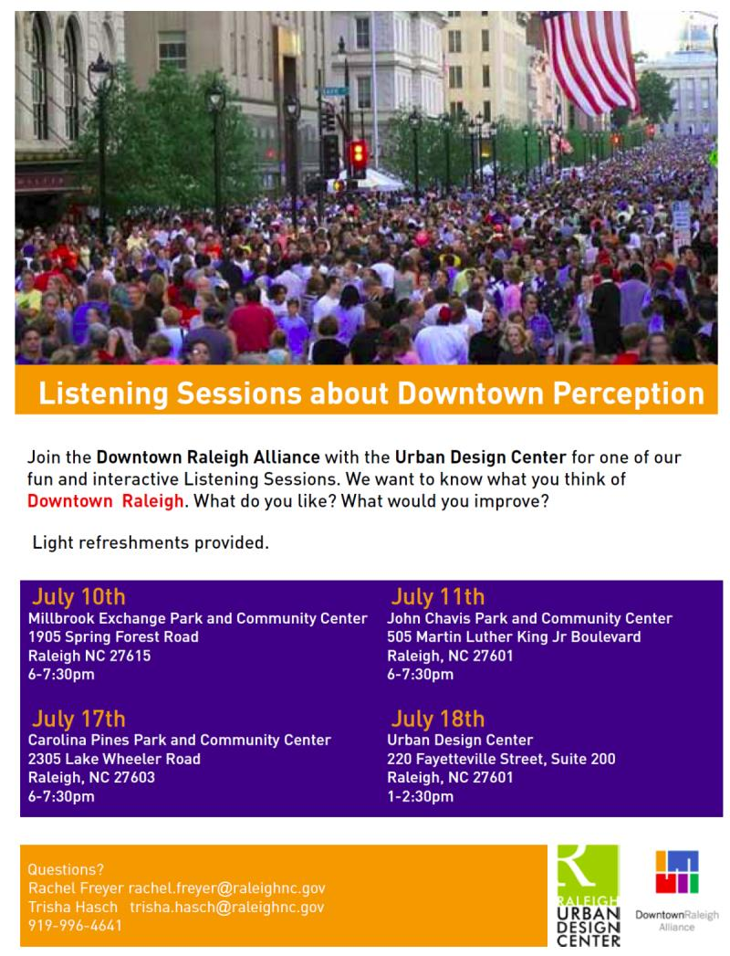 Listening Sessions about Downtown Perception