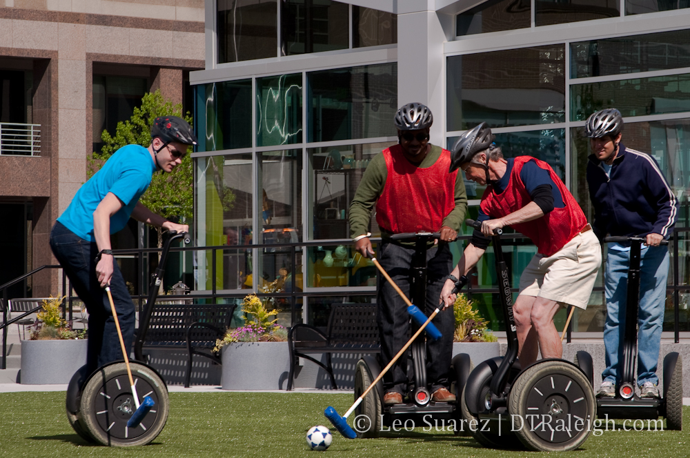 Segway polo in Downtown Raleigh
