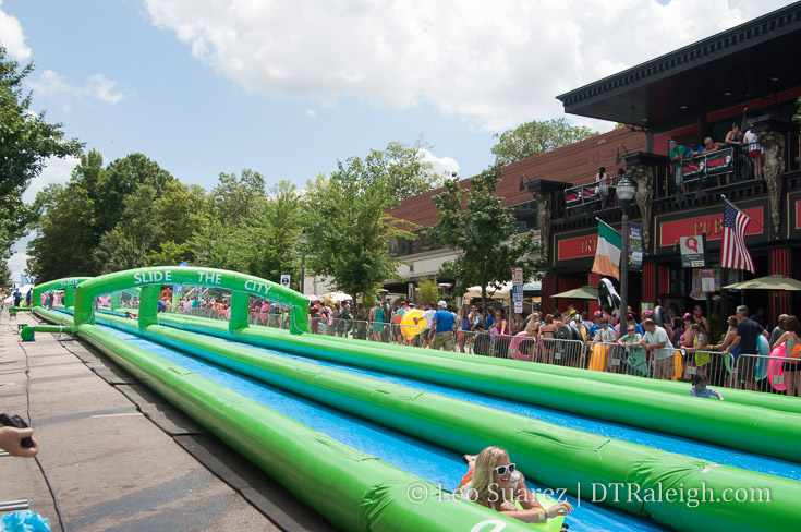 Slide the City event in Glenwood South. May 2015.