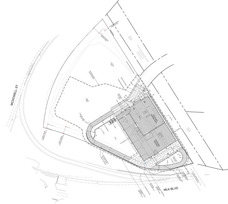 Site plan for Exploris Charter School