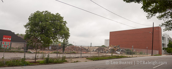 Demolition of the Greyhound Bus Station on Jones Street