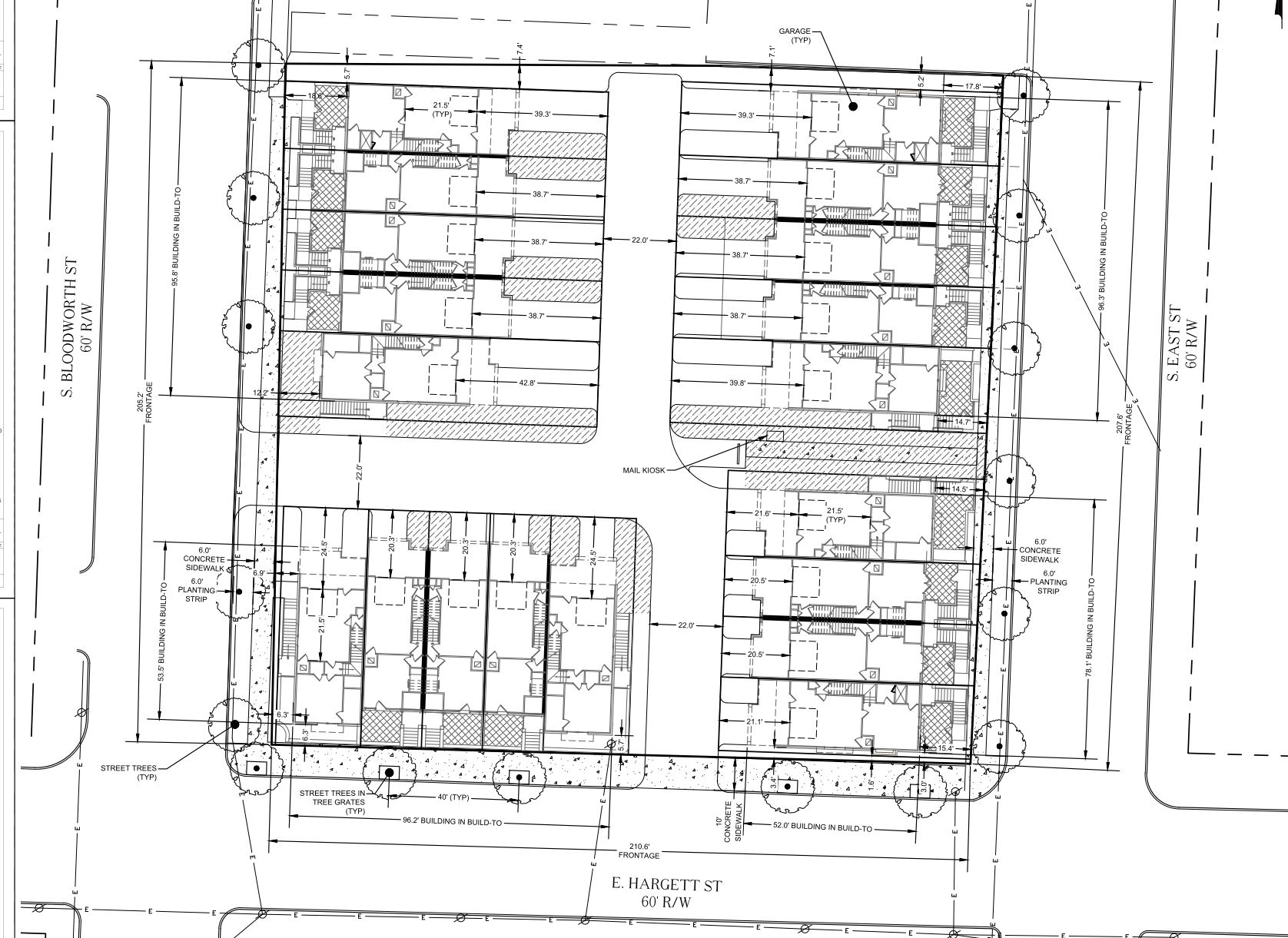 Hargett Place Planning Townhomes On East Hargett Street