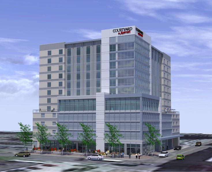 Rendering of future hotel on McDowell Street