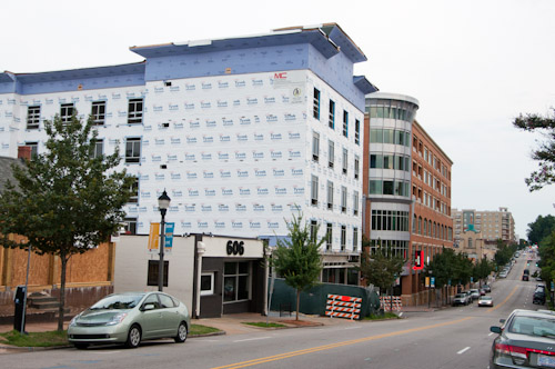 The Glenwood South Hampton Inn under construction in July 2012.
