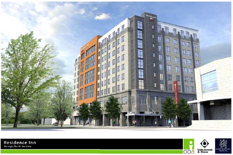 Rendering of the proposed Residence Inn on Salisbury Street
