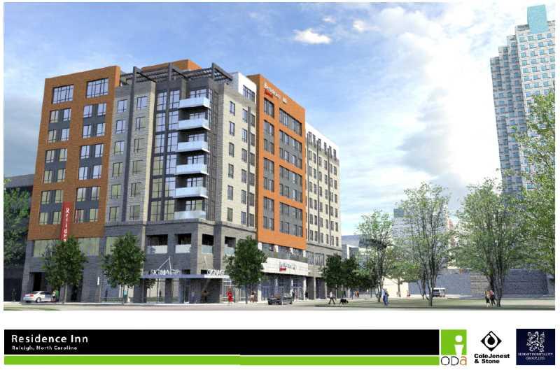 Rendering of the proposed Residence Inn on Salisbury Street