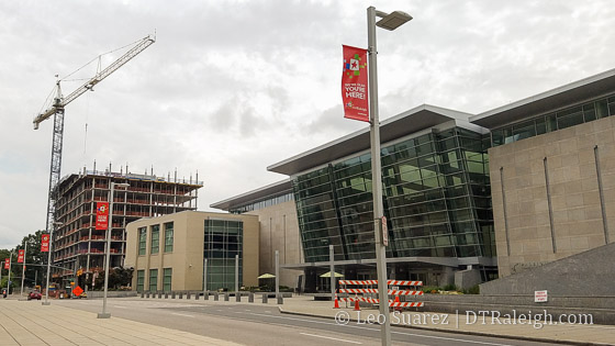 Raleigh Convention Center and future Residence Inn