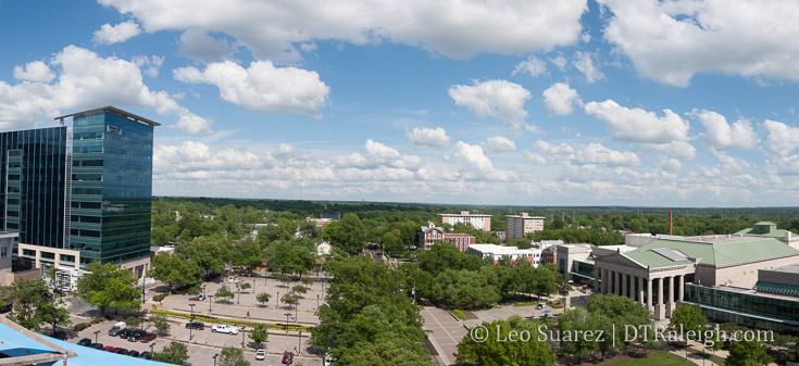 View from the upcoming rooftop bar at the Residence Inn Raleigh Downtown.