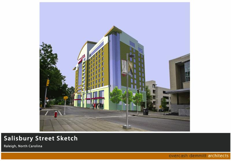 Rendering of the downtown Raleigh Marriott Residence Inn