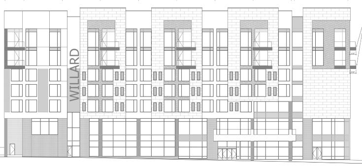 Rendering of The Willard from site plan submission.