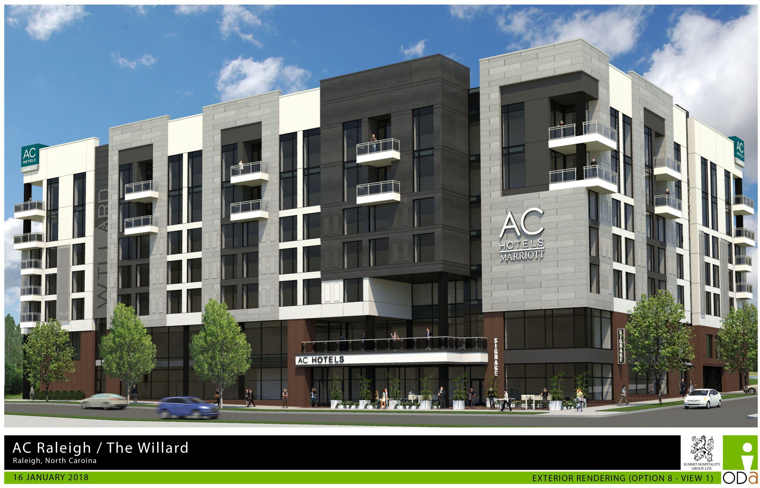 renderings of the willard hotel in glenwood south the