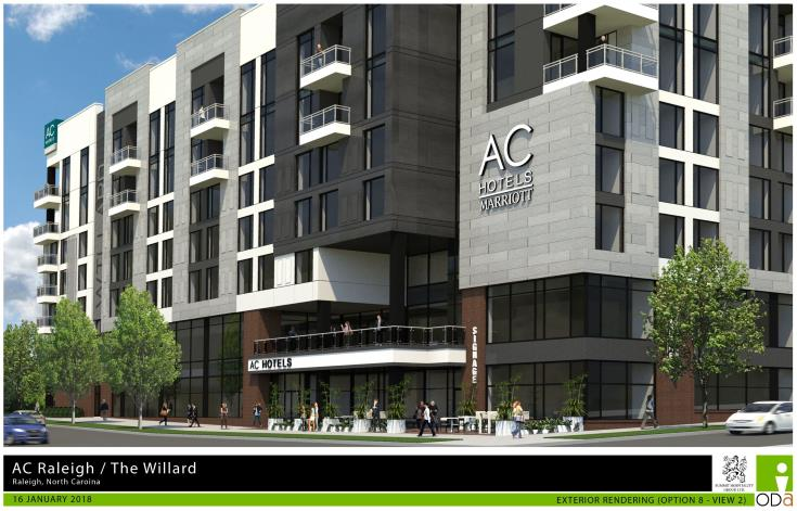 Rendering of The Willard hotel, AAD-1-18.