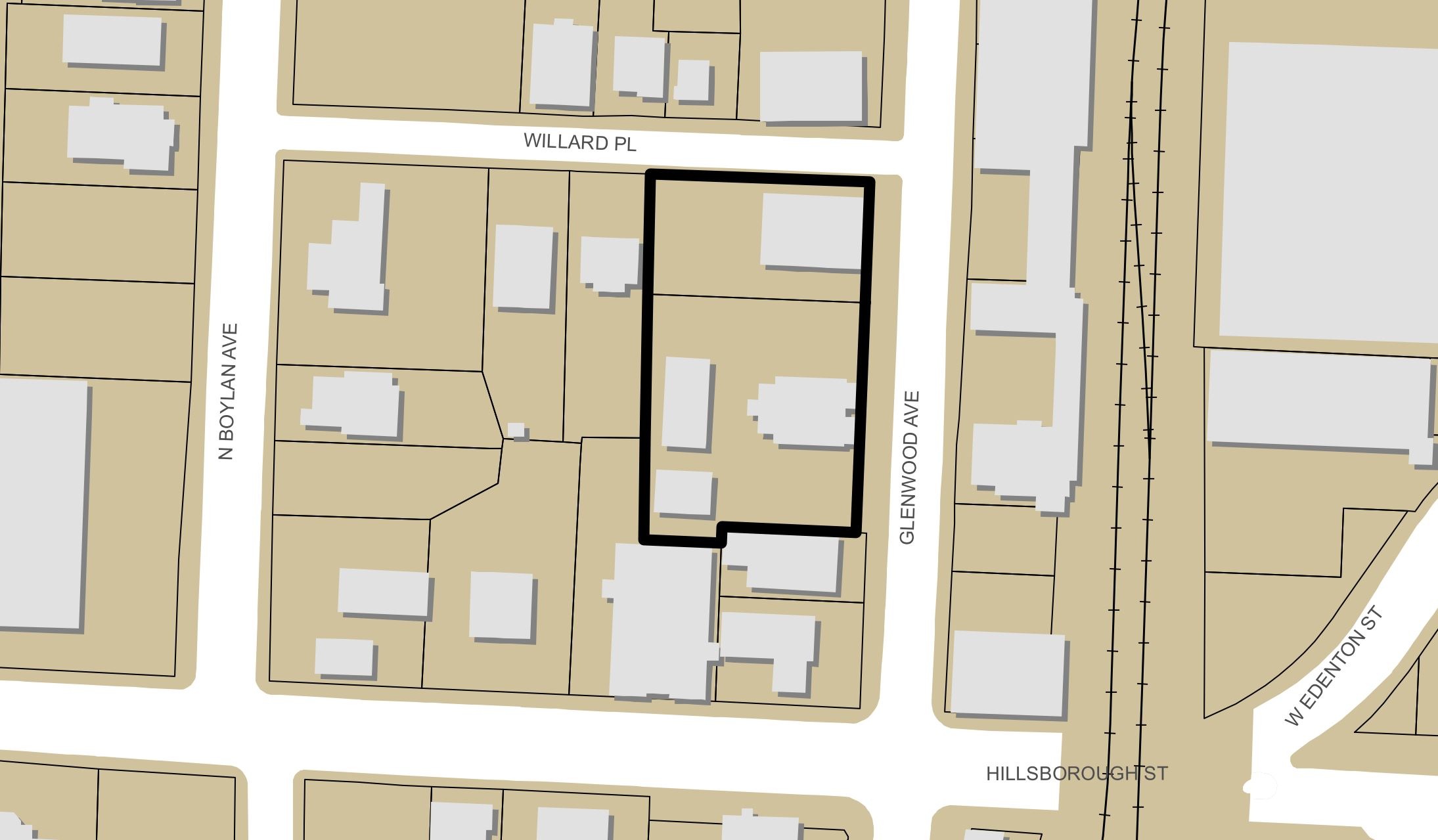 Map Of The Willard From Site Plan Submission