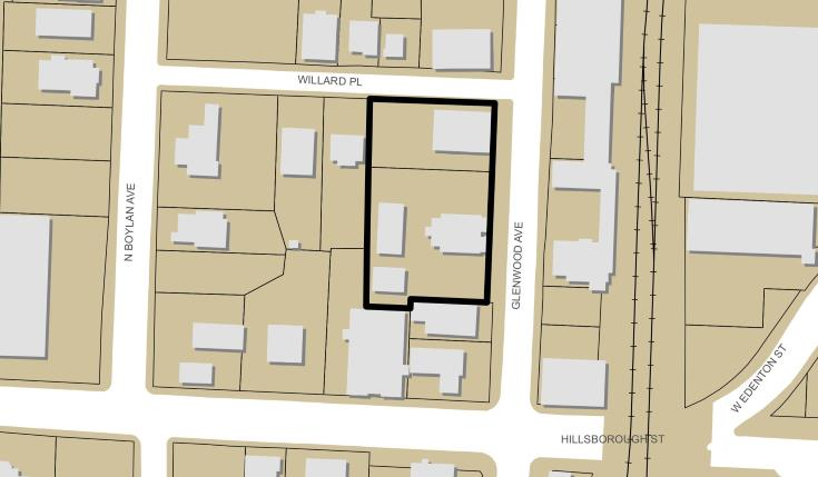 Map of The Willard from site plan submission.