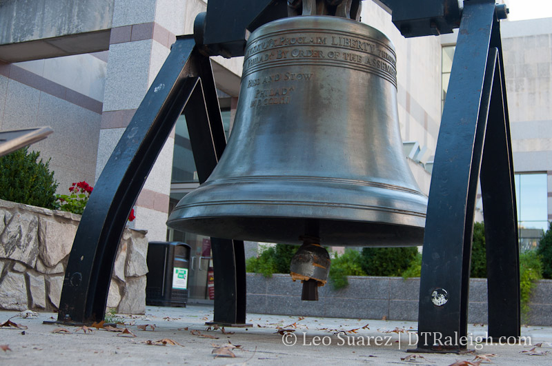 Raleigh's Liberty Bell replica