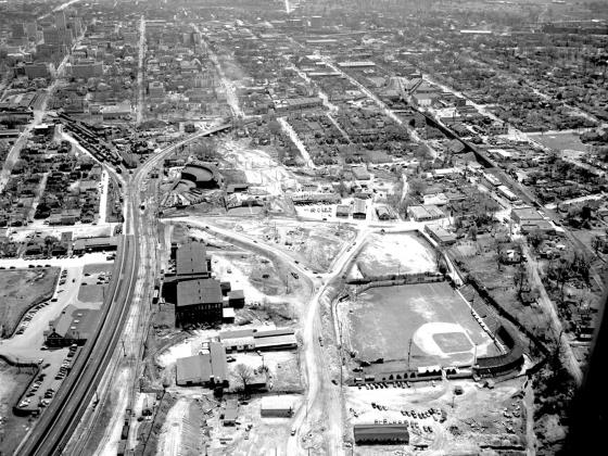 1952 Aerial photo of Capital Boulevard construction. Reprinted with permission from The News & Observer.