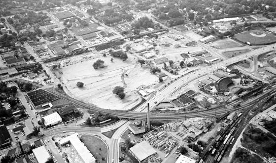 November 1964 Aerial photo of Capital Boulevard. Reprinted with permission from The News & Observer.