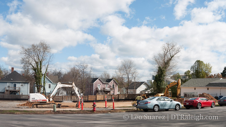 Land being cleared along New Bern Avenue. March 2017.