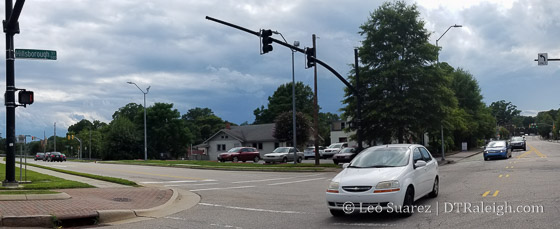Corner of Hillsborough and Glenwood Avenue