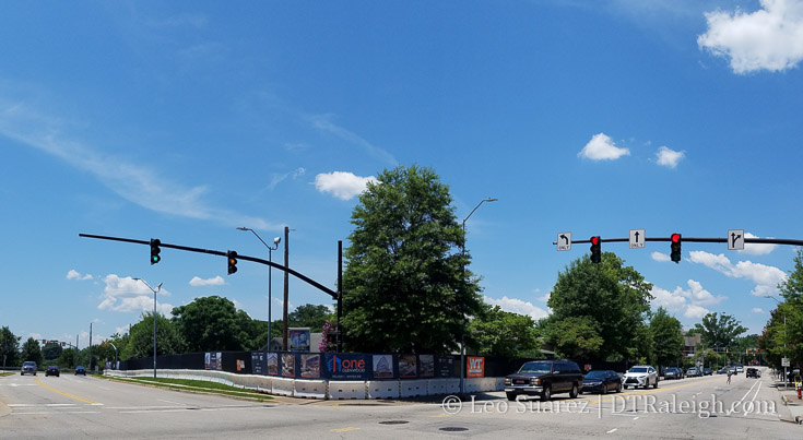 Corner of Hillsborough Street and Glenwood Avenue