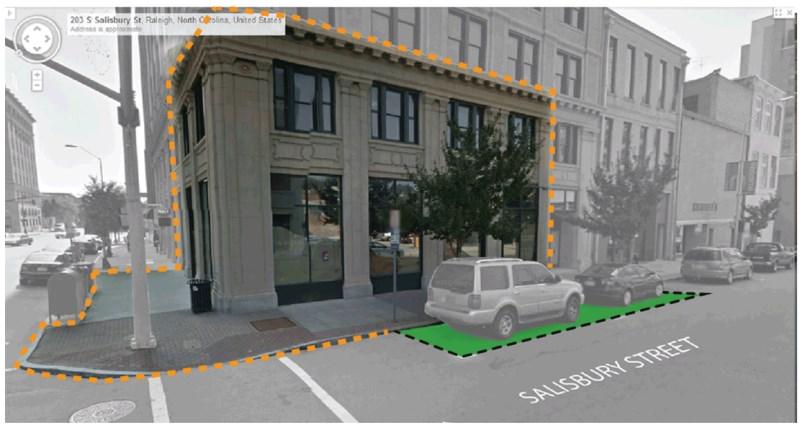 Concept for Salisbury Street parklet