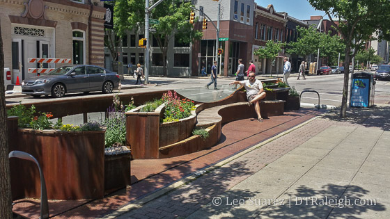Raleigh Space parklet on Salisbury Street