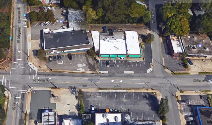 Google Maps of 800 West Peace Street