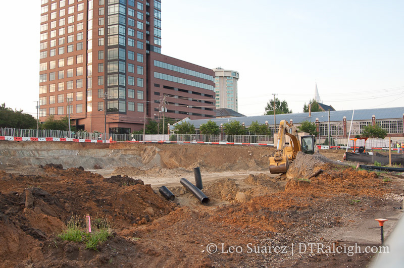 The Link Apartments construction site